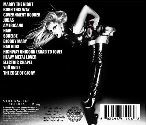 lady gaga born this way album cover back. Lady Gaga Born This Way Back