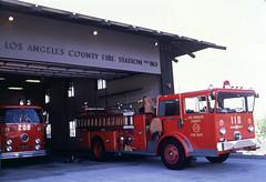LA County Fire FS 110 Marina Del Rey December 1979