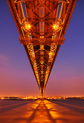 The Bridge is Light (Semi-detached) Tags: road bridge light reflection architecture night lights scotland long exposure glow bright fife geometry north scottish structure forth april queensferry semidetached 2011