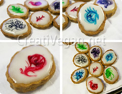 suminagashi cookies