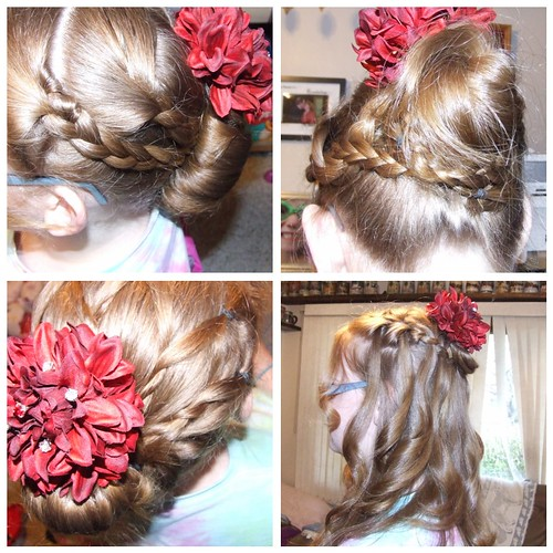 prom hairstyle trials