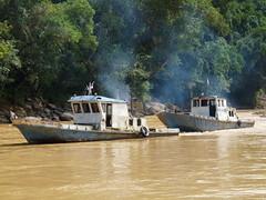 Double Power (Peter Ashton aka peamasher) Tags: river boat transport sarawak malaysia borneo rajang pandaw