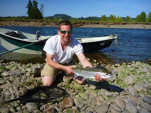 Mckenzie River steelhead caught trout fishing