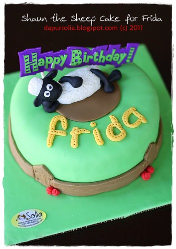 Shaun the Sheep Cake for Frida