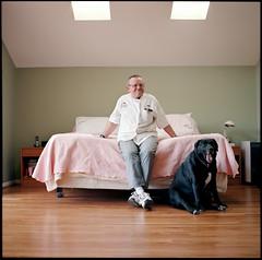 Wolfgang on Bed (alexanderbuchler) Tags: 6x6 film fuji kodak 400 portra gf670