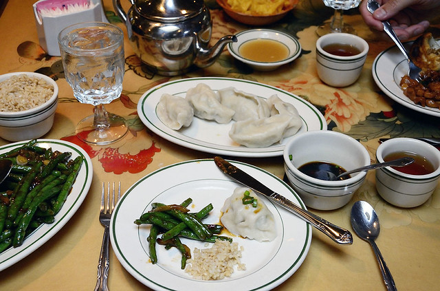 spicy string beans and dumplings in Exeter, NH