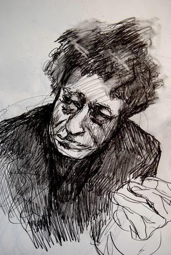 Portrait of Alberto Giacometti, 2010 by Kristie Holiday by kristieholiday