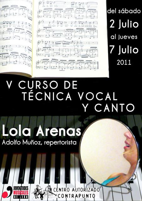 V CURSO DE TECNICA VOCAL Y CANTO 2011
