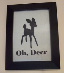 Oh, Deer Frame (PisforPaper) Tags: white elephant black animal animals silhouette forest woodland framed critter shapes fabric fox frame font material muslin diecut heattransfer diecutting