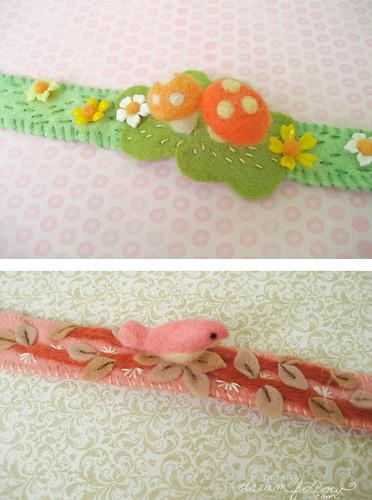 needle felted headbands