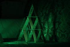Castle card (Ricardo Savegnago) Tags: longexposure house verde green castle colors canon dark cards houseofcards illumination castelo joker cartas iluminação 500d castelodecartas canoneost1i