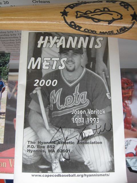 Jason Varitek with the Hyannis Mets