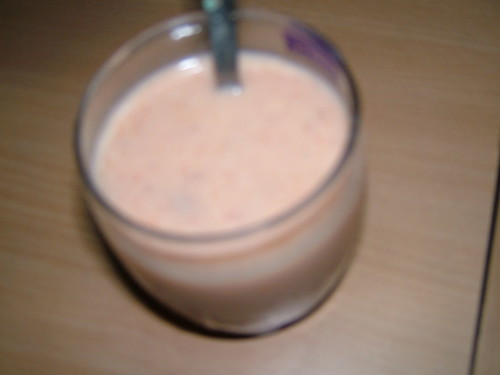 mixed fruit milkshake