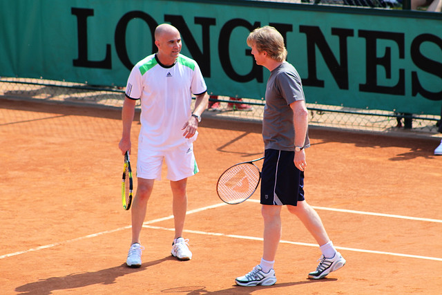 Andre Agassi and Jim Courier
