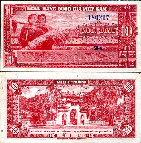 10 Dong Južný Vietnam 1962, P5