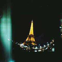 Eiffel tower (Uka wonderland) Tags: paris night lomography fisheye diana f