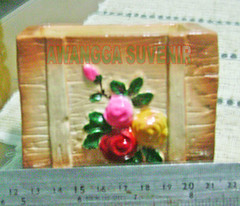 souvenir gypsum vas bunga kotak