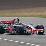 Lewis Hamilton at Silverstone.