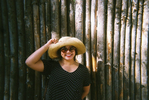 Sun hats and wood