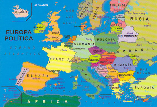 Spain Map Europe
