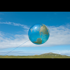 Tiree (PMMPhoto) Tags: uk blue sky cloud white green scotland globe  balloon land tiree paulmcgee donotusewithoutpriorpermission pmmphoto