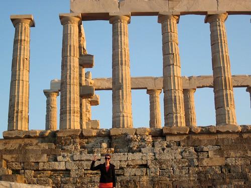 Temple of Poseidon - where's waldo