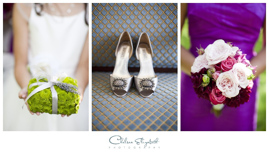 Walnut Grove Moorpark Wedding shoes and boquet