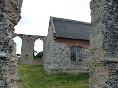 P1120005 (jrcollman) Tags: churchestemplesetc places church churchofsaintandrewcovehithe europeincldgcanaries quirky covehithe flint thatch britishisles suffolk