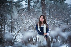 Winter Model (MegAshleyPhoto) Tags: winter snow girl cute flakes white christmas trees larkspur new