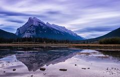 Rundle Reflections (Kristin Repsher) Tags: alberta banff banffnationalpark bigstopper canada canadianrockies d750 leefilters longexposure mountrundle nationalpark nikon rockies rockymountains rundle vermillionlakes