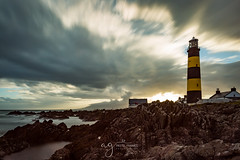 St Johns Point Lighthouse (Pastel Frames Photography) Tags: st johns point lighthouse co downnorthernireland sunset sky clouds rocks long exposure sea canon5dmark3 canon 2470mm