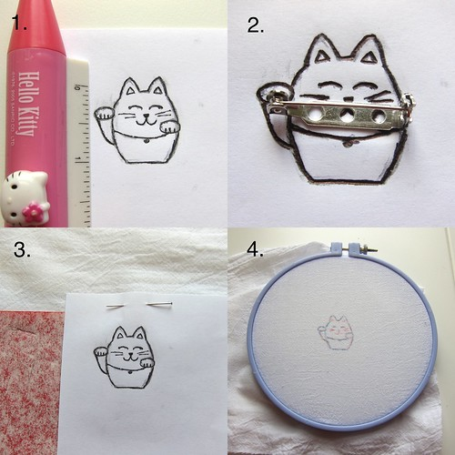 Iron Craft Challenge #12 - Lucky Cat Pin