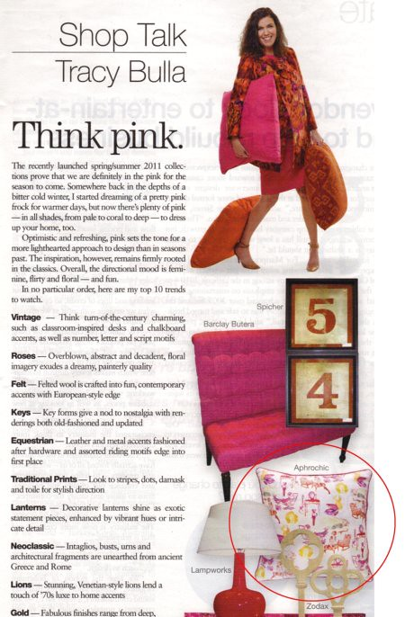 AphroChic Featured In Home Accents Today March 2011