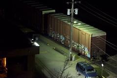 Rukis Reser ETC (Grimey  Trains) Tags: canada train graffiti etc boxcar burner freight reser rukis