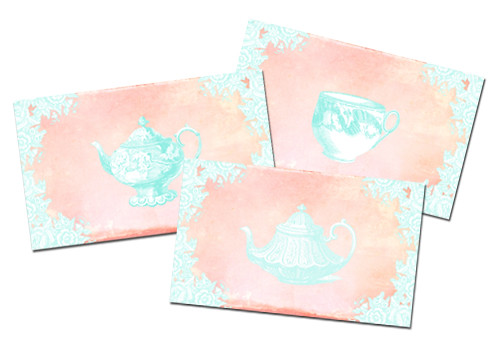 Freebie Vintage Tea Greeting Collection