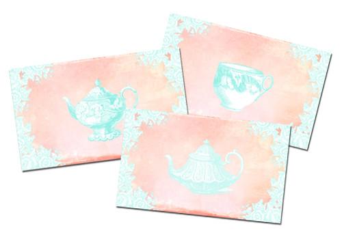 Freebie Vintage Tea Greeting Collection