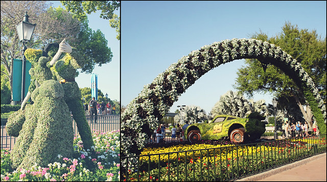Epcot topiary diptych