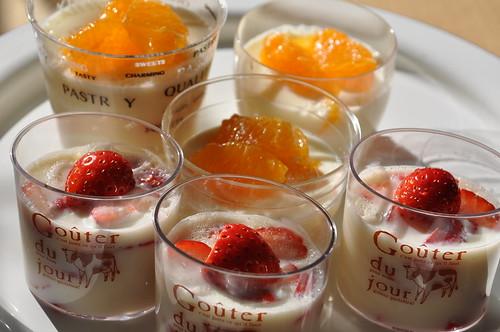 milk kanten jelly desserts