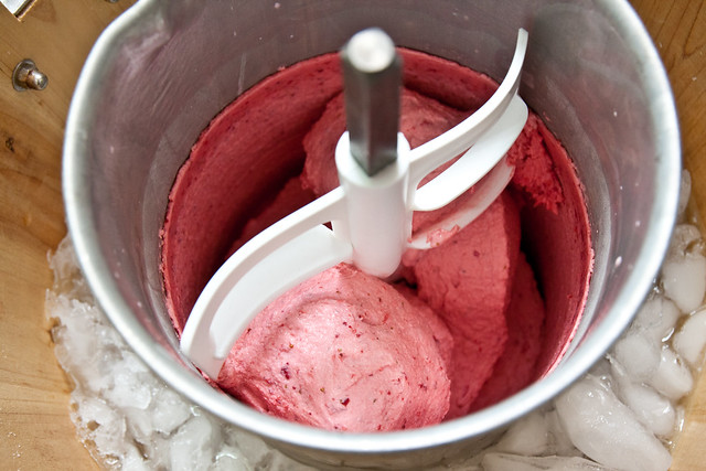 Strawberry-Sour Cream Ice Cream