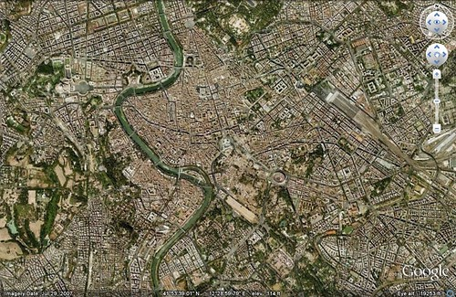 Rome, Italy (via Google Earth)
