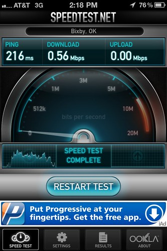 AT&T 3G at my office (iPhone 4)
