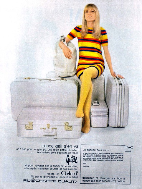 France Gall suitcase ad