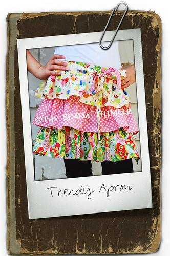 trendy apron by nanotchka