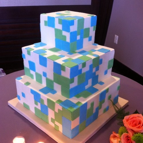 Yay! @revolvingdork and @kellbot got married! Check out the wedding cake!