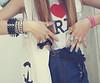 Colored nails ♥ (Lorena Stramasso) Tags: coração fotografia garotos frio kristenstewart unhascoloridas