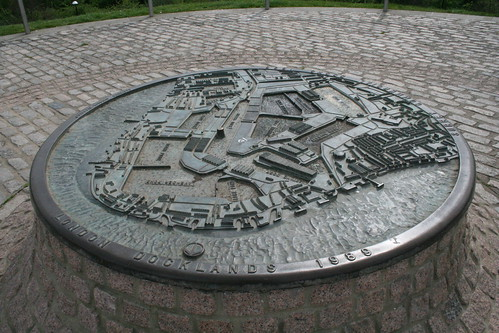 Map of Surrey Docks at the top of Stave Hill