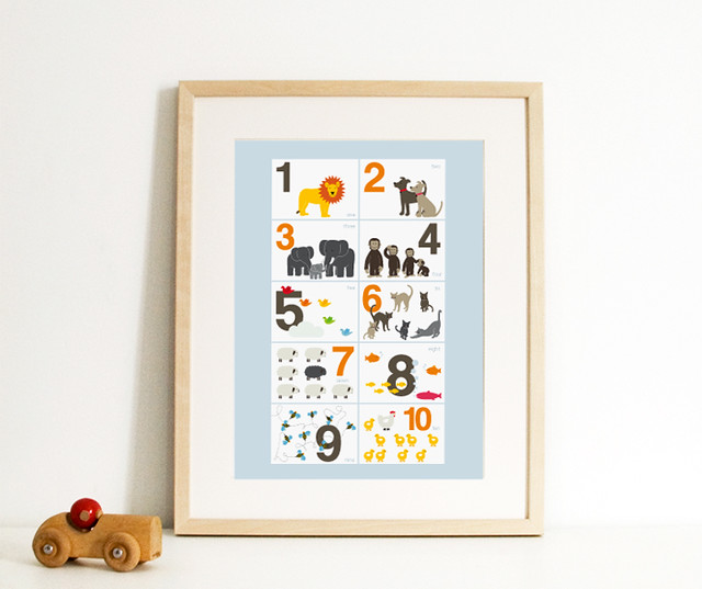 English Muffin's New 123 Animals Print