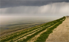 Rain coming (khalid almasoud) Tags: leica sea beach rain clouds coast flickr all photographer cloudy 5  rights estrellas kuwait coming khalid reserved dlux march12  2011  almasoud   flickraward  thebestofday gnneniyisi leicadlux5