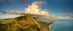 Couds over the Koolau's (tiger_tim_2000) Tags: morning panorama usa sunrise photography oahu hi waimanalo bellows windward kailua mokuluaislands waimanalobay kamehameridge keoluhills waileapt waimanalobch mcbhk olomanapeak1643