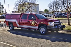 Tinker AFB Fire Department (Brett Conner) Tags: canon eos chevy topaz unitedstatesairforce kfor emergencyvehicles wildweather midwestcity 50d macbookpro 73110 federalfire chief1 topazadjust reedcenter brettconner tinkerfire ramseywinch